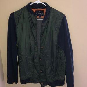 Buffalo Nylon Green Coat w Blue Cotton Sleeves